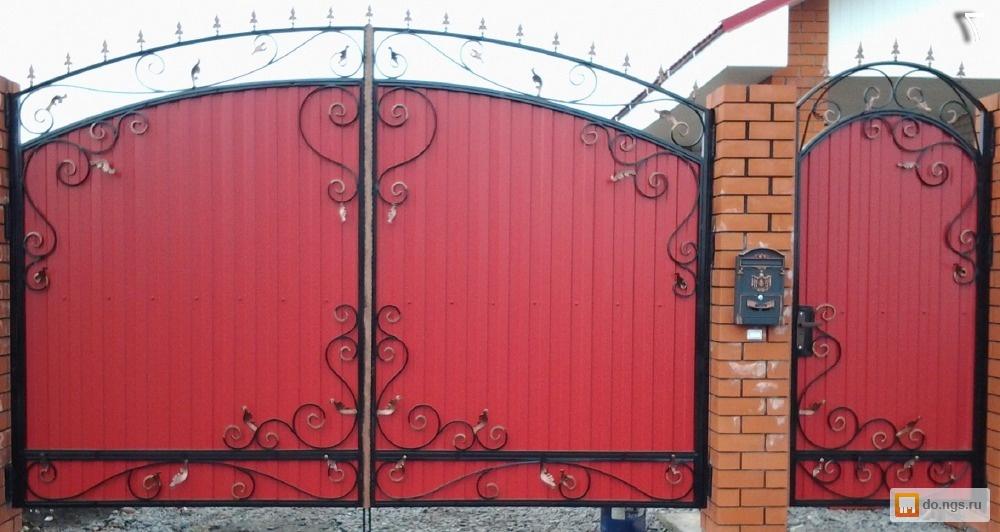 Узоры на калитках с воротами из профнастила