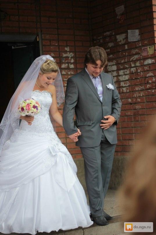 Продам свадебное платье, в подарок фата и подъюбник! б/у, фото