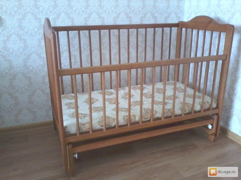 Кроватка для новорожденных с маятником своими руками