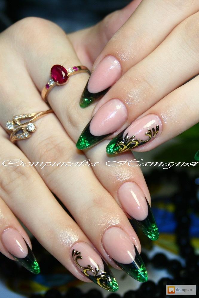 Фото арочного моделирования ногтей