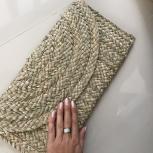 эксклюзивный новый плетеный клатч из мягкого камыша, Красноярск