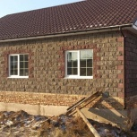 Комплект дома из теплоблоков с фасадом (колотый камень), Красноярск