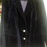 Новый женский бархатный пиджак,чернильного цвета, Красноярск