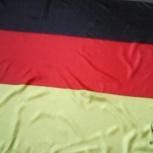 Флаг немецкий новый с эмблемой кубка и надписью Uefa Еuro 2016 France, Красноярск