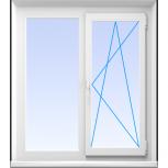 Окна пвх двустворчатые профиль 58мм стеклопакет 24мм, Красноярск