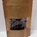 Пакет бумажный крафт дойпак с замком зип лок с прозрачным окном, Красноярск