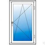 Окна пластиковые одностворчатые профиль  алюмин 58мм стеклопакет 24мм, Красноярск