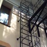 Пожарные эвакуационные лестницы П1-1, П1-2 вертикальные выход.на кров, Красноярск