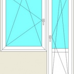 Балконный блок ПВХ Одностворчатые профиль алюминиевый 70мм стекло 32мм, Красноярск