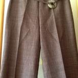 Новые льняные брюки шоколадного цвета,France, Красноярск