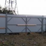 ворота распашные, откатные. Заборы, Красноярск
