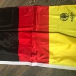 Флаг немецкий новый с эмблемой кубка и надписью Uefa euro 2016 France, Красноярск