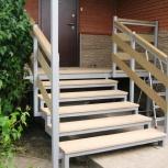 Ходовые уличные  лестницы на металлокаркасе, площадки, перильное ограж, Красноярск