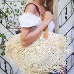 Эксклюзивная новая пляжная сумка из мягкого камыша, Красноярск