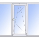 Окна пластиковые трехстворчатые профиль  алюмин 58мм стеклопакет 24мм, Красноярск