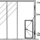 Ворота складчатые врс 42х42-ухл1, серия 1.435.2-28, Красноярск