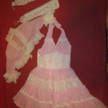 Праздничное платье для девочки, бальное с болеро и перчатками, Красноярск