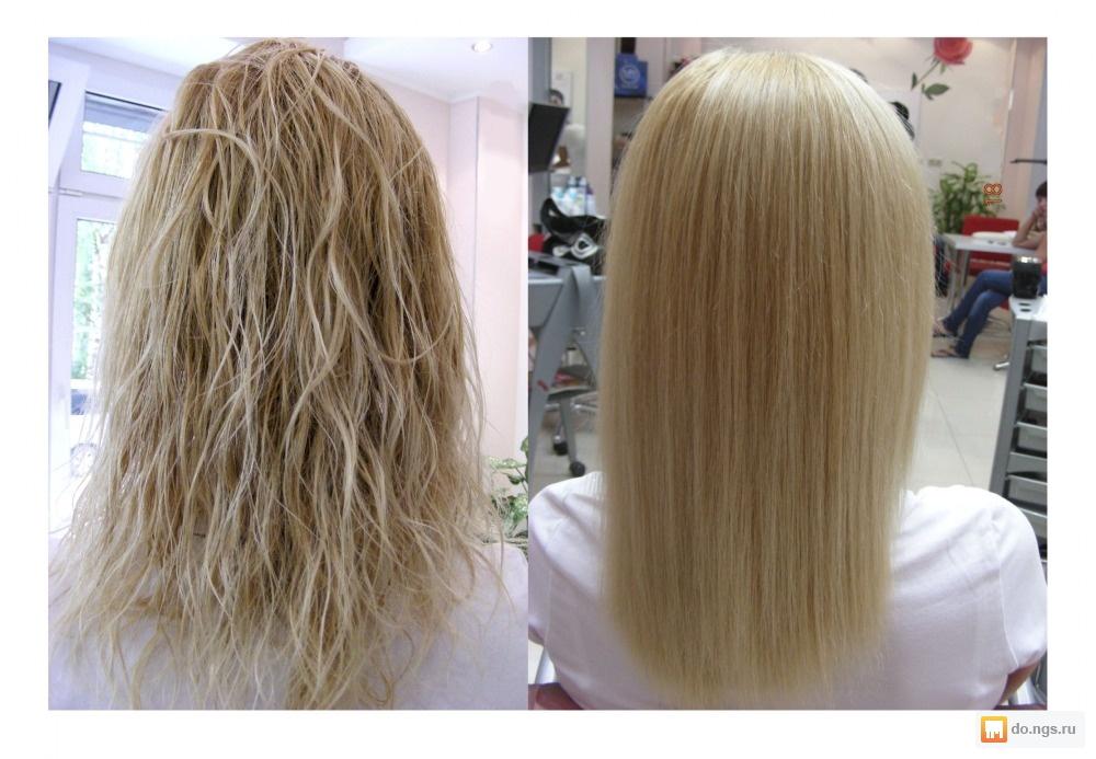 Химия выпрямление волос