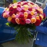 Яркий микс из 51 розы, Красноярск