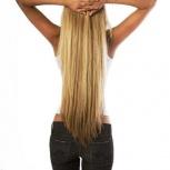 Натуральные волосы для наращивания на капсулах, лентах и трессах, Красноярск