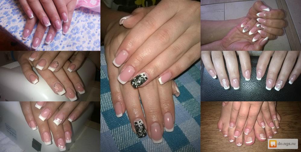 Наращивание гелем тонких ногтей